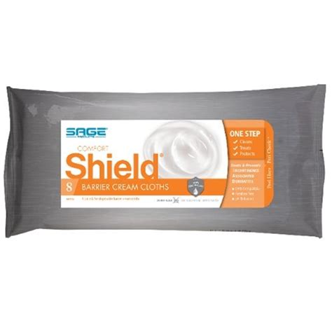 Sage Comfort Shield Incontinence Barrier Cream Cloths At