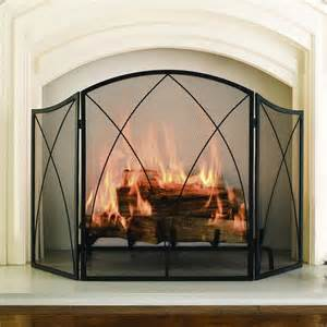 fireplace screen pleasant hearth black powder coat arched 3 panel fireplace