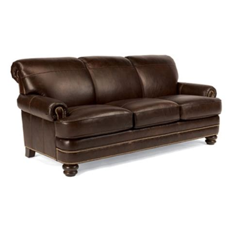 flexsteel b3791 31 bay bridge leather sofa discount