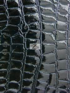 shiny alligator vinyl faux leather pleather embossed