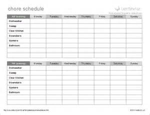 house chore schedule template chore list template great printable calendars