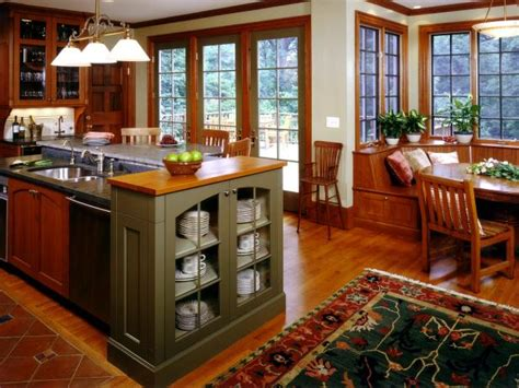 craftsman mission style kitchen design hgtv pictures