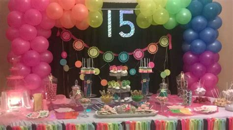 quinceanera neon themes neon glow in the dark quincea 241 era party ideas photo 1
