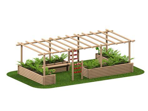 Pergola Planter by Planter Pergola Playscape