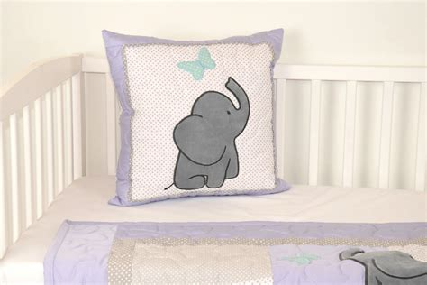 Nursery Decorative Pillows Elephant Pillow Decorative Pillow Boy Nursery Decor Teal Purple Gray