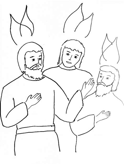 Holy Spirit Coloring Pages For Children by Bible Story Coloring Page For The Holy Spirit Comes