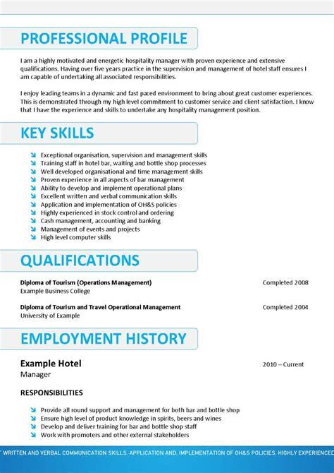 Resume Exles Australia Administration Cv En Anglais