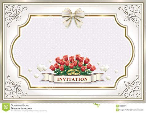 Beautiful Wedding Invitation Cards by Beautiful Wedding Invitation Card Stock Vector Image