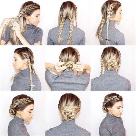 Braided Hairstyles For Tutorials by Braided Updos Prom Hairstyles Tutorials Hacks