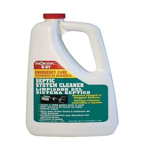 roebic 64 oz septic system cleaner k 57 h 3 the home depot
