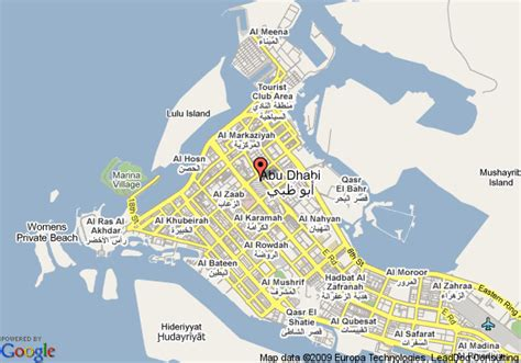 printable abu dhabi road map map of intercontinental abu dhabi abu dhabi