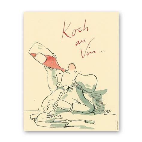 Vorlage Angebot Künstler Poster Koch Au Vin 40x50 Cm Gaymann Im Angebot