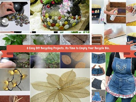 recycled diy projects 8 easy diy recycling crafts its time to empty recyle bin