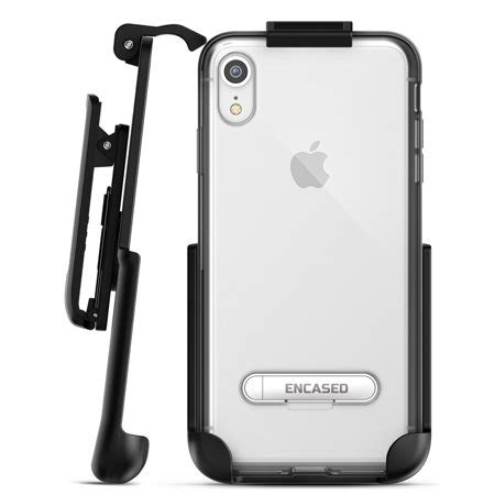 iphone xr belt clip clear holster slim cover w kickstand reveal grey walmart