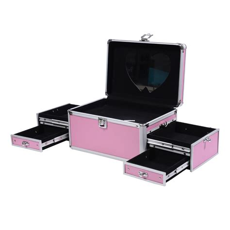Makeup Cases With Drawers by Soozier 11 Quot Cosmetic Makeup W Mirror Drawers