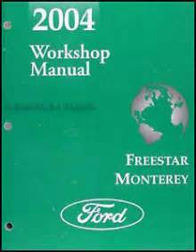 2004 ford freestar mercury monterey van shop manual
