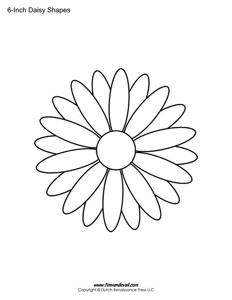 stencil template free printable templates shape flower pdfs
