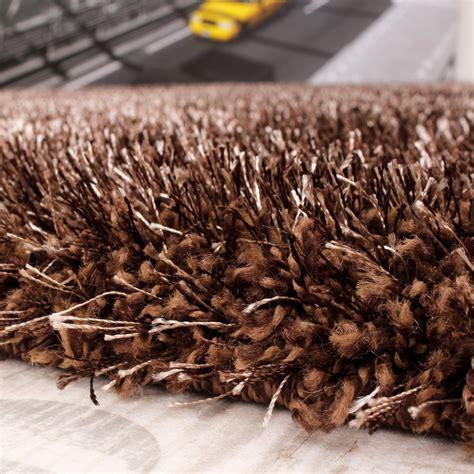 teppich hochflor braun shaggy teppich hochflor langflor leicht meliert qualitativ