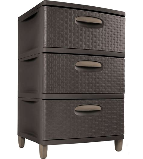 storage drawers sterilite three drawer storage chest in storage drawers