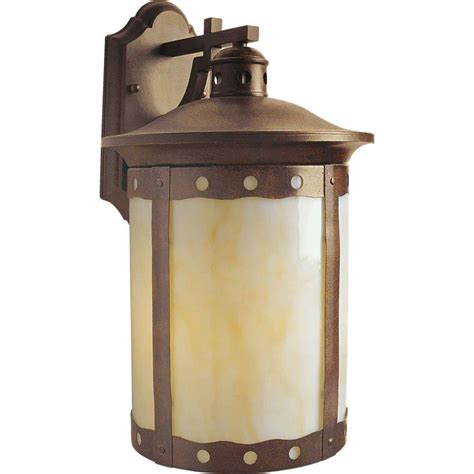 sienna patio and garden lights talista 1 light rustic sienna outdoor wall lantern with