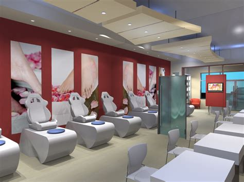 layout interior cuisine clean simple nail salon layout interior design