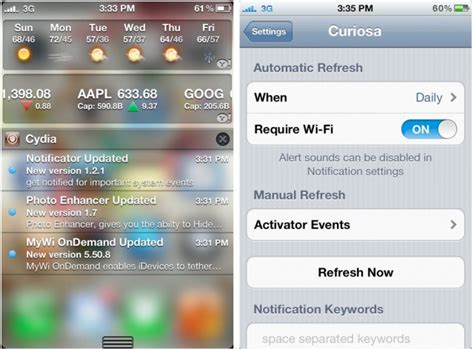 notification center themes cydia how to check for cydia updates in the ios 5 notification