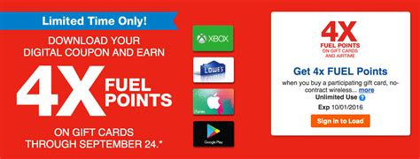 Kroger Gift Cards 4x Points - kroger gift cards 4x fuel points lamoureph blog