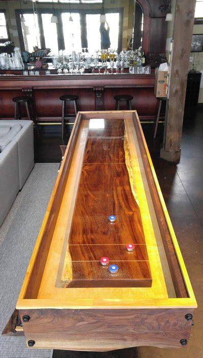 edge walnut shuffleboard  monkeypod playing surface