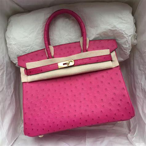 H Rmes Birkin Croco 30 Cm Shocking Pink hermes birkin 30cm ostrich leather with green gold