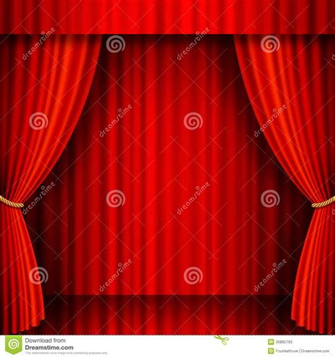 Velvet Stage Curtains Velvet Vector Theater Stock Photos Image 35865793