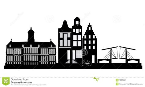 European House Plans With Photos amsterdam skyline stock illustration illustration of