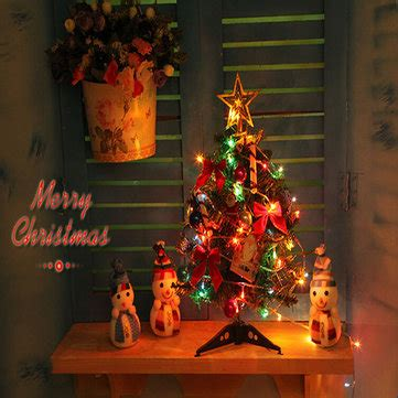 40cm luxury mini christmas tree with lights desktop