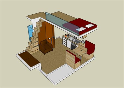 small house plan with loft exploiting the spaces of small