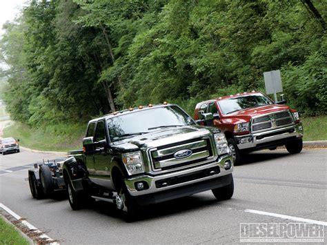 1010dp 2011 ford vs ram vs gm diesel trucks f350 dodge ram