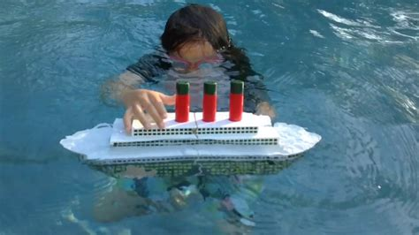 lego boat sinking in pool titanic sinking toy the movie youtube