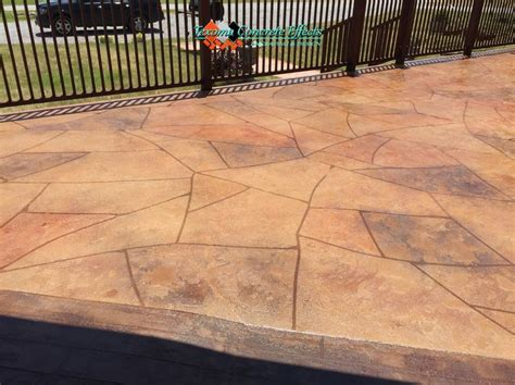 Concrete Overlays For Patios by Stained Concrete Overlay Flagstone Design On Patio By