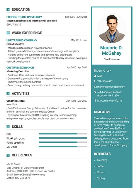 impressive resume template professional resume cv templates with exles topcv me
