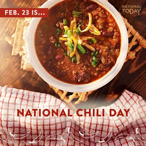 national chili day check out national today a viral website nationaltoday ad
