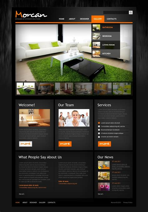 Interior Design Website Template 36424 Web Theme Templates