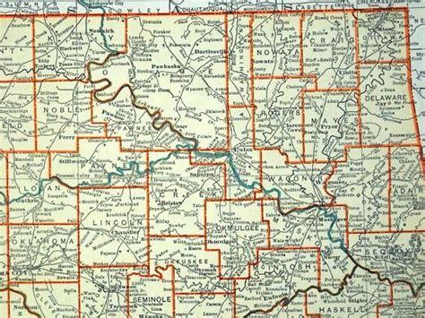 vintage oklahoma map antique oklahoma maps family history