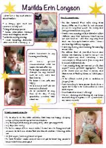 nursery one page profiles