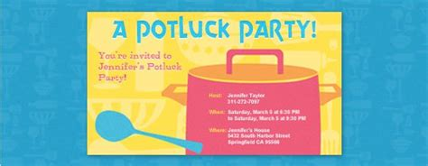 Office Potluck Invitation Potluck Invitation Template