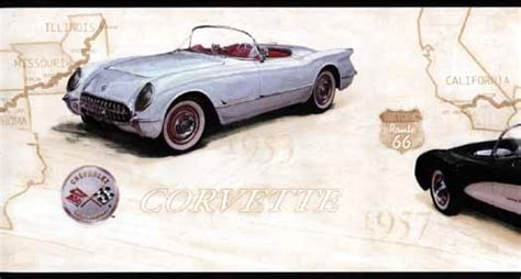 corvette wallpaper border chevy corvette wall border wallpaper border