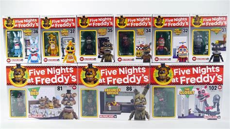 3 In 1 Toys Set mcfarlane toys fnaf wave 2 unboxing 9 new five nights at