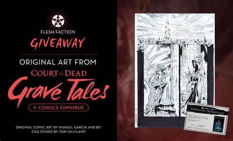 Dead Giveaway Original - court of the dead flesh faction original comic book art giveaway sideshow collectibles