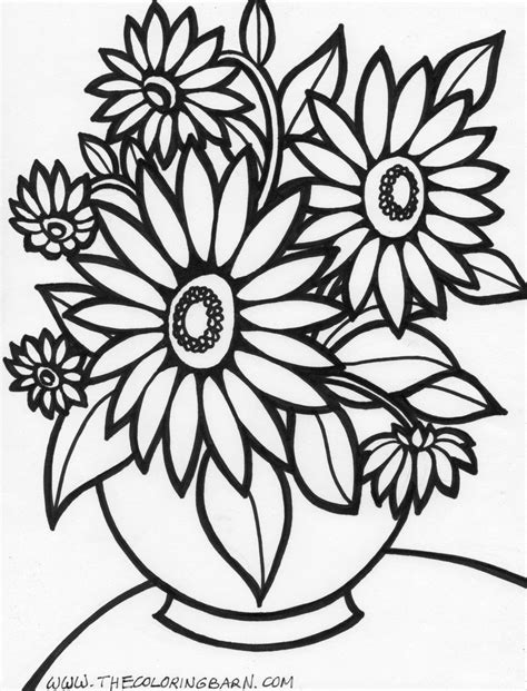 coloring pictures of flowers and trees flowers coloring pages color printing flower
