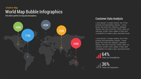 World Map Bubble Infographics Powerpoint And Keynote Slide Worlds Best Powerpoint Presentation