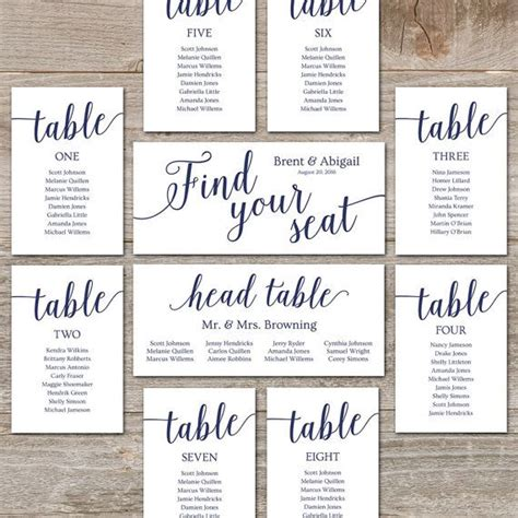seating chart wedding template best 25 table seating chart ideas on