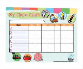 chore template 11 sle weekly chore chart template free sle