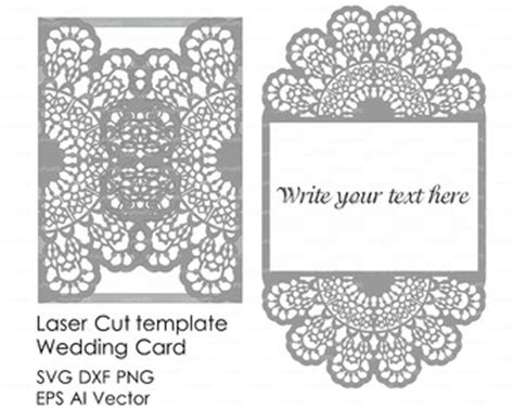 dxf templates wedding invitation eastern pattern card template